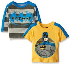 Batman Baby Boys Value Pack Tee Shirts Gray 2 Pack 24 Months *** More info could be found at the image url. (This is an affiliate link)