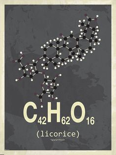 Licorice molecule poster