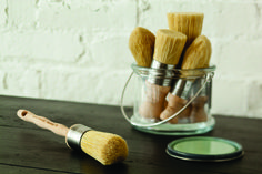 Restore is a complete collection of handmade bristle and synthetic brushes with unique shapes and sizes, designed to create a spectrum of finishes from smooth to specialty surfaces. Restore brushes are handmade using the finest chunking bristles and high tech synthetic filaments. The newly designed ergonomic handles offer better control and comfort. You can offer your customers the finest brushes for use with chalk and clay paint, plaster paint, latex paint, waxes and more.