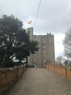 Hedingham Castle in Castle Hedingham, Essex a lovely view with the DeVere Flag atop