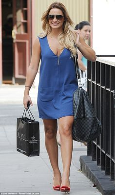 Summer transformation: Sam Faiers couldn't keep the smile off her face after undergoing a post break-up makeover on Wednesday afternoon