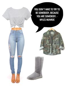 """bum day?"" by lexissssss ❤ liked on Polyvore featuring UGG Australia"