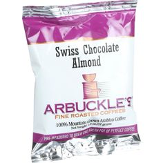 Arbuckles' Coffee Swiss Chocolate Almond 1.3 Oz Case Of 10