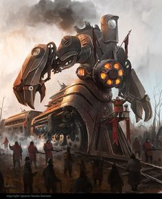 railway engine centaur by *neisbeis ★ Find more at http://www.pinterest.com/competing/