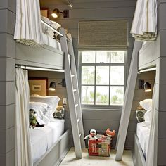 Boys' Bunk Room - 2012 Ultimate Beach House Room Tour - Coastal Living