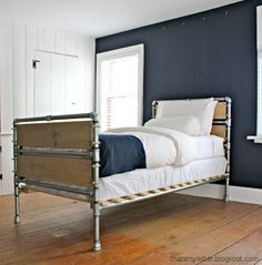 Ana White | Build a Pipe and Wood Slat Bed | Free and Easy DIY Project and Furniture Plans
