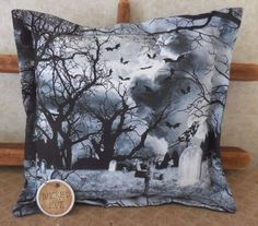 Primitive Halloween WICKED EVE Pillow Tuck  Spooky Decor Crows Cemetery Moon #NaivePrimitive #auntiemeowsatticprims