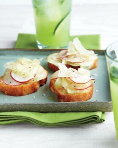Cucumber and Radish Crostini Recipe