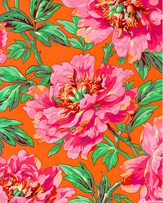 Kaffe Fassett Collective Spring 2014 - Tree Peony - Quilt Fabrics from www.eQuilter.com
