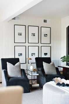 Sentimental family photos are added into this new, casual space, Dana Wolter Interiors, Graham Yelton Photography
