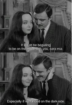 Carolyn Jones and John Astin  in The Addams Family.