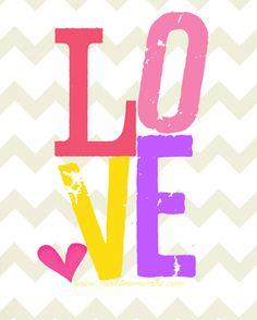 Free Love Printable (- cute for kids room and nursery walls)