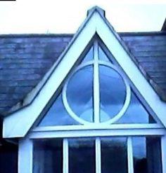 Deathly Hallows windows!