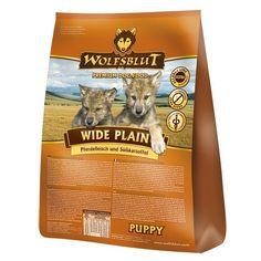 Wolfsblut Wide plain puppy#Gezonde voeding#Ideale energiebron#Vlees met natuurlijke oorsprong#Een unieke combinatie van kruiden uit bos en grasland#Licht verteerbaar met kleine kroketten#Geen granen#Vrij van suiker, soja, bleekmiddelen, vitamine K 3, geur, kleur of smaakversterkers en kunstmatige conserveringsmiddelen#Geschikt voor honden met allergieën.