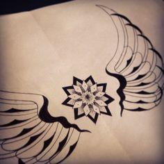 Desenho / drawing / esboço / sketch / mandala / asas / wings