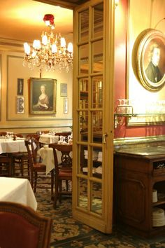 The oldest cafe in continuous operation in Paris - Le Procope Bistro-Restaurant-Cafe, Paris, France (Est 1686) - Visited by Benjamin Franklin, John Paul Jones and Thomas Jefferson.