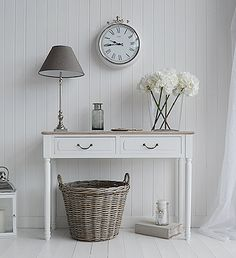 Provene white console table for hall furniture