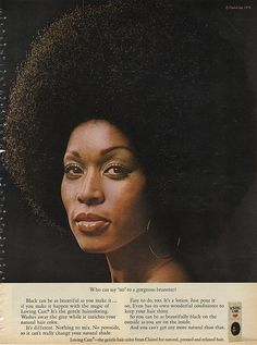 Vintage Beauty and Hygiene Ads of the (Page Vintage Black Glamour, Vintage Beauty, Vintage Makeup, Vintage Advertisements, Vintage Ads, Black Magazine, Magazine Ads, 70s Makeup, 70s Hair