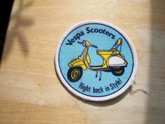 80s vespa scooter patch rare great condition mod badge