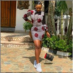 2019 Lovely Ankara short Gown Styles for Pretty Ladies - Naija's Daily African Fashion Ankara, Latest African Fashion Dresses, African Dresses For Women, African Print Dresses, African Print Fashion, Africa Fashion, African Attire, African Prints, African Wear