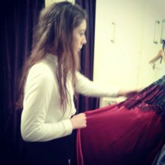 Emily quality checking the new arrivals from Jonquil #nightwear #lingerie