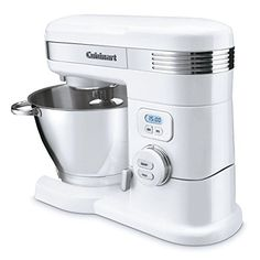 NEW Cuisinart 55 Quart 800 Watts Stand Mixer -- Find out more about the great product at the image link. Stand Mixer Reviews, Kitchenaid Stand Mixer, Stainless Steel Bowl, Citrus Juicer, Hand Mixer, Hand Blender, How To Double A Recipe, Kitchen Collection, How To Make Bread