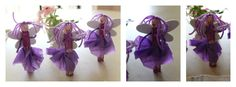 Crunchy and Green: Clothespin Fairies.  Can simplify it by using silk flower leaves or craft foam pieces for wings