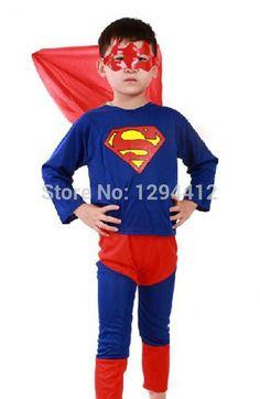 Red Spiderman Black Spiderman Batman Superman Halloween Children Costume