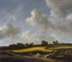 Jacob van Ruisdael - Landschap met tarwevelden