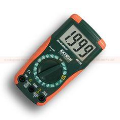 http://termometer.dk/multimeter-r13262/generalle-multimetre-r13315/multimeter-mini-digital-53-MN15A-r13320  Multimeter, mini digital  Stort letlæseligt digitalt display  AC / DC spænding, DC strøm, modstand, kontinuitet, diode test-og Type K temperatur  1.5V og 9V batteri testfunktion  Komplet med gummi hylster, 9V batteri, wire sensor type K og prøveledninger Garanti: 2 År Leveringstid: 4-5 Uger