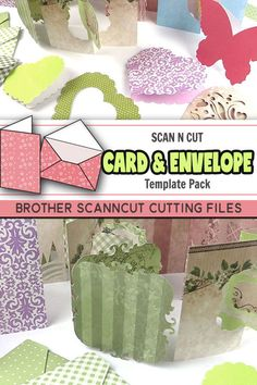 Check out our ScanNcut card and envelope pack. A variety of different scanncut patterns that make it easy for you to choose a card for a special occasion or to attach to a gift. Lots of Scanncut patterns to choose from.