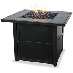 Ceramic Tile LP Gas Fire Pit Table