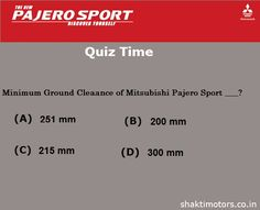 Guess the ground clearance of Mitsubishi #PajeroSport ?