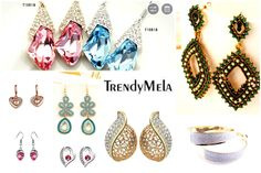 Buy online latest designed fashion and artificial earrings in India. Shopping for new fashionable earrings drop, stud and long-earrings allergy free. Buy Now @ Trendymela.com