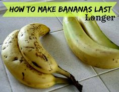 Sunny Simple Life: Making Bananas Last Longer