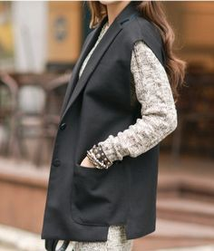 ㊣ buy imports official website Europe, a genuine BF wind everything loose suit vest Women's Vests, Fashion Vest, Suit Vest, Design Inspiration, Europe, Suits, Website, Clothes, Style