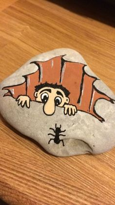 Easy paint rock for try at home (stone art & rock painting ideas Rock Painting Ideas Easy, Rock Painting Designs, Paint Designs, Rock Painting Kids, Pebble Painting, Pebble Art, Stone Painting, Painting Art, Stone Crafts