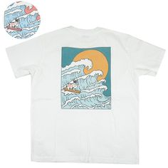TES エンドレスサマー サーフ Tシャツ BIG WAVE TEE NV-1574359 【半袖Tシャツ】 【メール便可】 -JOE- Mens Tops, T Shirt, Fashion, Tes, Supreme T Shirt, Moda, Tee Shirt, Fashion Styles, Fashion Illustrations