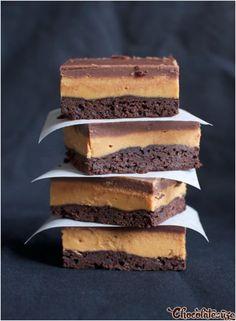 Super Easy Peanut Butter Chocolate Slice