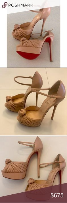 2770d4a0802 Nude Marchavekel 150mm Nappa Leather Heels Brand new!