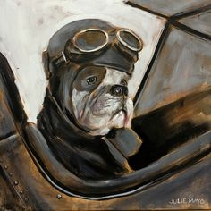 'Fighter Pilot' - oil on canvas, SOLD Fighter Pilot, Animal Paintings, Dog Art, Oil On Canvas, Fantasy Art, Aviation, Lion Sculpture, Statue, Subscription Boxes