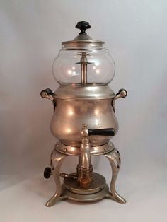 Antique Sternau Coffee Machine 2.5 Pints Plated Copper 1903
