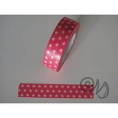 Masking Tape rot mit Sternen
