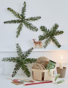 Décoration de Noël DIY : Des étoiles de Noël avec des branches de sapin - christmas decoration - Marie Claire Idées