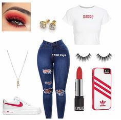 Swag Outfits For Girls, Boujee Outfits, Cute Comfy Outfits, Teenage Girl Outfits, Cute Outfits For School, Cute Casual Outfits, Teen Fashion Outfits, Teenager Outfits, Dope Outfits