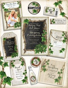 Ivy Garden Wedding Invitations By Vintageweddinginvitation Perfect For A Spring Summer Or Vineyard