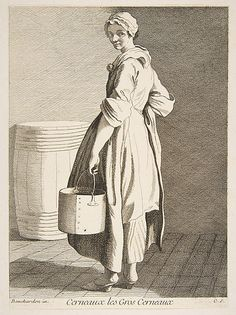 la vendeuse de noix - Walnut Seller, Paris, 1738 Anne Claude Philippe de Tubières, Comte de Caylus  (French, Paris 1692–1765 Paris)