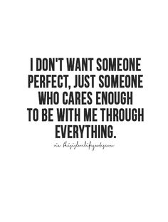 Exactly... we are far from perfect but one thing we are sure of and it's we are no letting go