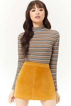Forever 21 is the authority on fashion & the go-to retailer for the latest trends, styles & the hottest deals. Mini Skater Skirt, Sequin Mini Skirts, Leather Mini Skirts, Maxi Skirts, Pop Fashion, Denim Fashion, Fashion Outfits, Fashion Spring, High Fashion
