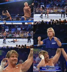 Eddie Guerrero's last match remember watching this live on t. Wrestling Memes, Chris Benoit, Top Tv Shows, Eddie Guerrero, Andre The Giant, Match 3, Professional Wrestling, Now And Forever, 3 I